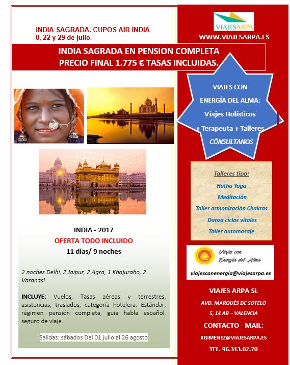 OFERTA INDIA JULIO 2017