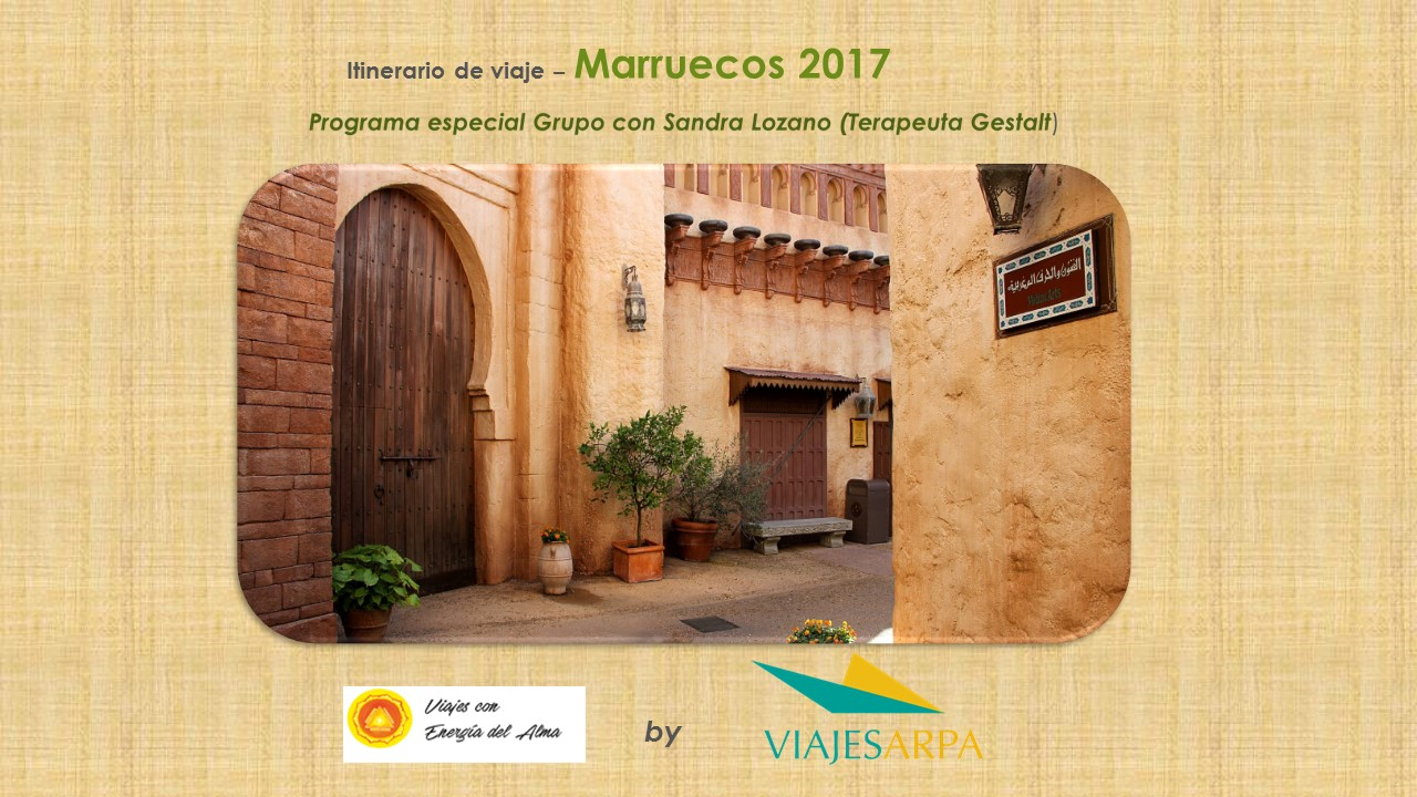 Programa de viaje - Marruecos 2017