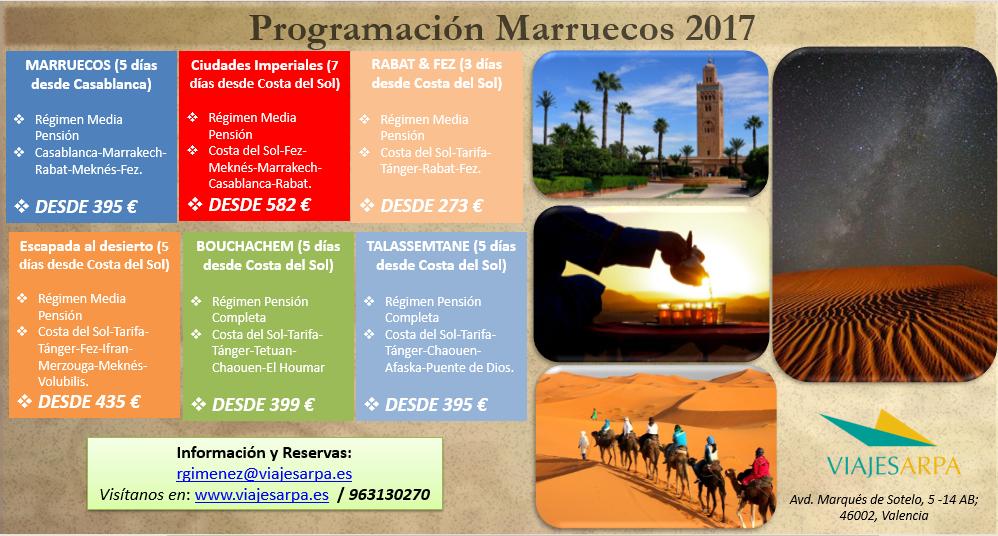 Programación Marruecos 2017