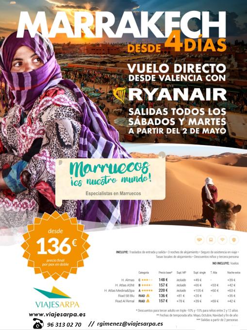 cartel valencia marruecos