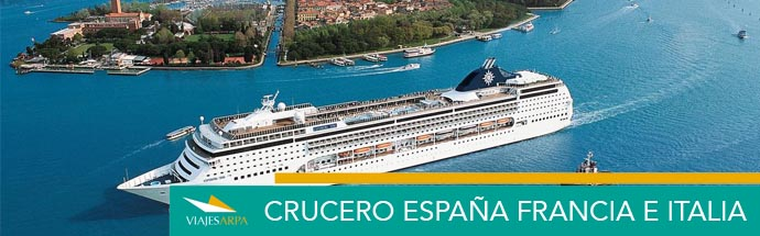 """Crucero """"España, Francia e Italia"""""""
